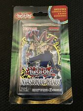 Yugioh! Sealed Invasion of chaos Blister Booster Pack BONUS Cards Box New!!!!!