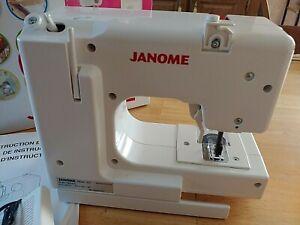 JANOME SEW MINI WHITE ELECTRIC SEWING MACHINE W/PEDAL/CORDS-ORIGINAL BOX-UNUSED
