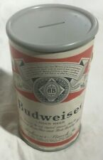 "Vintage Budweiser Beer Can Money Bank.  Large 10"" High!"