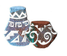 Clay Pottery - Jar - Southwest Design - Southwestern - Embroidered Iron On Patch