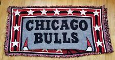 "Vintage 58X40"" Red Northwest Company CHICAGO BULLS Woven Tapestry Throw Blanket"