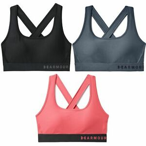 [1307200] Womens Under Armour Armour Mid Crossback Sports Bra