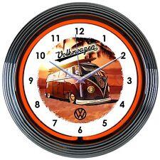 Volkswagen Neon Clock sign VW California Surf Bus Samba Wagon Van MicroBus