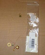 NEW WENDY MINK Charm Necklace Women Ladies Gold NEW NIP NWT