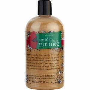 New Sealed Philosophy VANILLA BEAN NUTMEG Shower Gel Shampoo 16oz