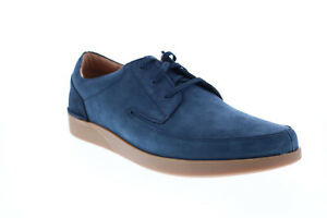 Clarks Oakland Craft 26148751 Mens Blue Nubuck Lifestyle Sneakers Shoes