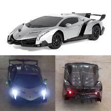 RC Lamborghini Veneno Sport Remote Control Racing Luxury Car Design Toy Silver