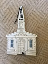 Cat's Meow Limited Ed Ornament, Unitarian Church, Christmas Wood Collectible