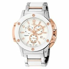 Stainless Steel Case Men's Ceramic Band Casual Wristwatches