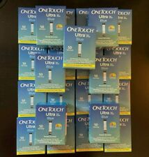 LOT - 23 x 50ct One Touch Ultra Diabetic Test Strips - MINT - CHECK EXP