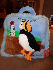 "Bird Puffin Nova Scotia Canada 3D Stuffed Plush 12"" Pillow Creature Comforts"