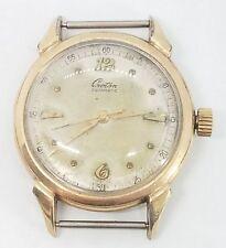 Vintage Mens 10k Gold Filled Croton Aquamatic Mid Century Wrist Watch