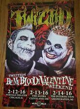 Twiztid - My Bloody Valentine's 2016 Poster insane clown posse horrorcore mne