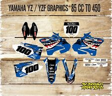 YAMAHA YZ YZF 85 125 250 450 FULL GRAPHICS KIT-MX -DECALS-STICKERS-SHARK