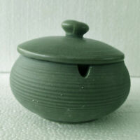 Ceramic Ashtray with Lids Windproof Cigarette Ashtray Indoor Use Light Green