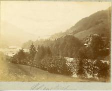 Suisse, Alpes bernoises, ca.1900, vintage citrate print Vintage citrate print, m