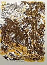 BELTRAND JACQUES.: Gravure sur  bois originale. Croquis.