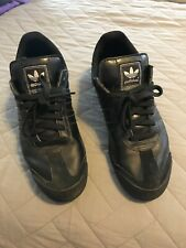 Adidas Originals Samoa Mens Leather Athletic Shoes Sneakers Size 12 Black