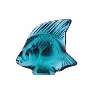 GENUINE LALIQUE Turquoise Fish Sculpture 3000500