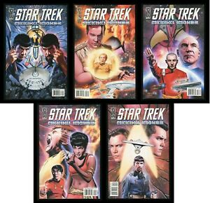 Star Trek Mirror Images Comic Set 1-2-3-4-5 Captain Kirk Jean-Luc Picard Spock