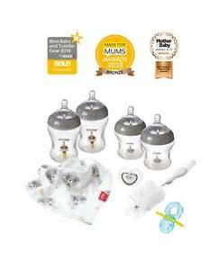 Nuby All-In-1 Newborn Baby Bottles Starter Bundle / Bottles / Bibs / Teethers