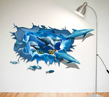 3D Dolphin Vinyl Home Room Decor Art Wall Decal Sticker Bedroom Removable Mural