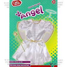Chad Valley Angel De Hadas Vestir Traje Conjunto Vestido, Alas Halo & Varita Pre Escolar