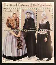GRENADA TRADITIONAL COSTUMES OF THE NETHERLANDS STAMP SHEET 3v 2002 MNH CLOTHING
