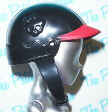 MONSTER HIGH GHOULIA YELPS SCOOTER DOLL REPLACEMENT BLACK & RED HELMET ONLY