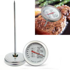 BBQ Meat Instant Read Thermometer Mechanical Stainless Steel Cooking Grill Probe