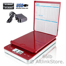 SAGA POSTAL SCALE 66LB X 0.1OZ DIGITAL SHIPPING SCALE POSTAGE AC USB ALL IN ONE