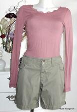 Esprit Shorts Hose Pants 44 XXL braun brown grey grün Baumwolle Bermuda kurz