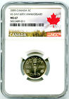2005 CANADA 5 CENT NGC MS67 V-E VE-DAY 60TH ANNIV VICTORY V NICKEL - BUFF MARK