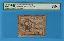 CC-46. Continental Currency. July 22, 1776. $30. PMG Choice About Unc 58