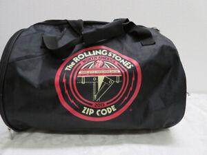 The Rolling Stones North America ZIP CODE Tour Black Duffle Bag 2015