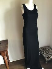 NET ANN DEMEULEMEESTER Long Black DRESS S $980 Pristine