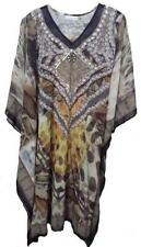 Animal Print Kaftan Regular Size Dresses for Women