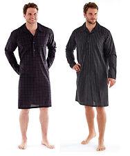 Mens Night Shirt Traditional Striped Nightshirt Yarn dyed Warm