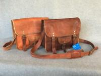 "Handmade Goat Leather Padded 13"" Satchel SMPR+ Laptop Bag Billy Goat Designs"