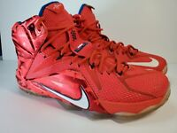 """Nike Lebron 12 XII """"4th Of July"""" USA Men's Size 10 Basketball Shoes"""