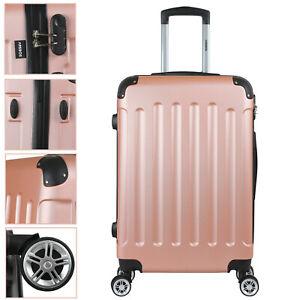 Arebos Eco valise de voyage à roulettes rigide M L XL valise de transport