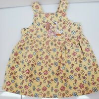 Precious Moments Infant Girl 12 Months Yellow Floral Jumper Dress