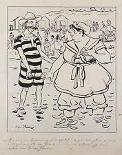 Jean PLUMET(1871-1939)Mâcon Saône et Loire Dessin original humoristique signé BD