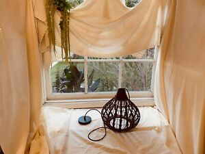 23.5'' W Modern Weave Wicker Hanging Lamp Gourd Rattan Pendant Chandelier Light
