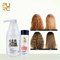 Pure Brazilian keratin straightening 5% 8% 12% Hair Treatment+shampoo