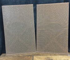 "2 Vtg Magnavox Console Speaker Grill Fabric Material No Damage 20 3/4""x13"""