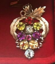Jumbo 49.56CT Sterling Silver Natural Multi Color Gemstone Hand Made Pendant