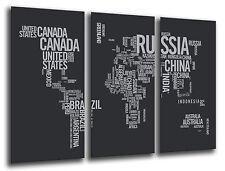 Cuadro Moderno Fotografico Mapa Mundial base madera, 87 x 62 cm ref. 26231