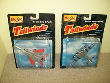 Diecast Metal/Plastic Airplanes Military 1997 Maisto Tailwinds (Lot of 2)