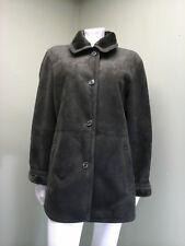 Chaps Women's Dark Green Sueded Button Closure Coat - Size XL